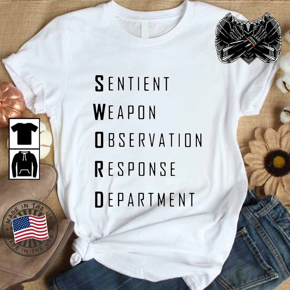 Sword sentient weapon observation response department shirt