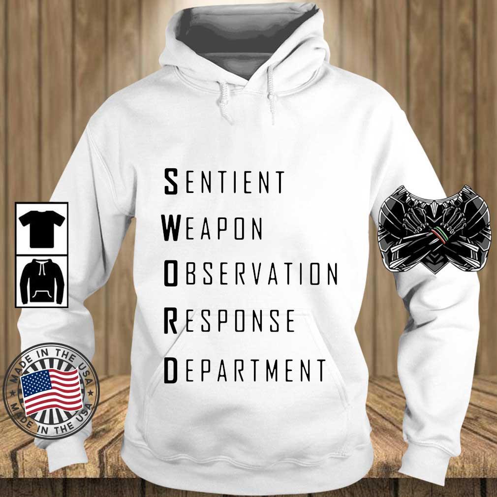 Sword sentient weapon observation response department s Teechalla hoodie trang