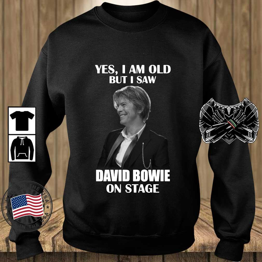 Yes I am old but I saw David Bowie on stage s Teechalla sweater den
