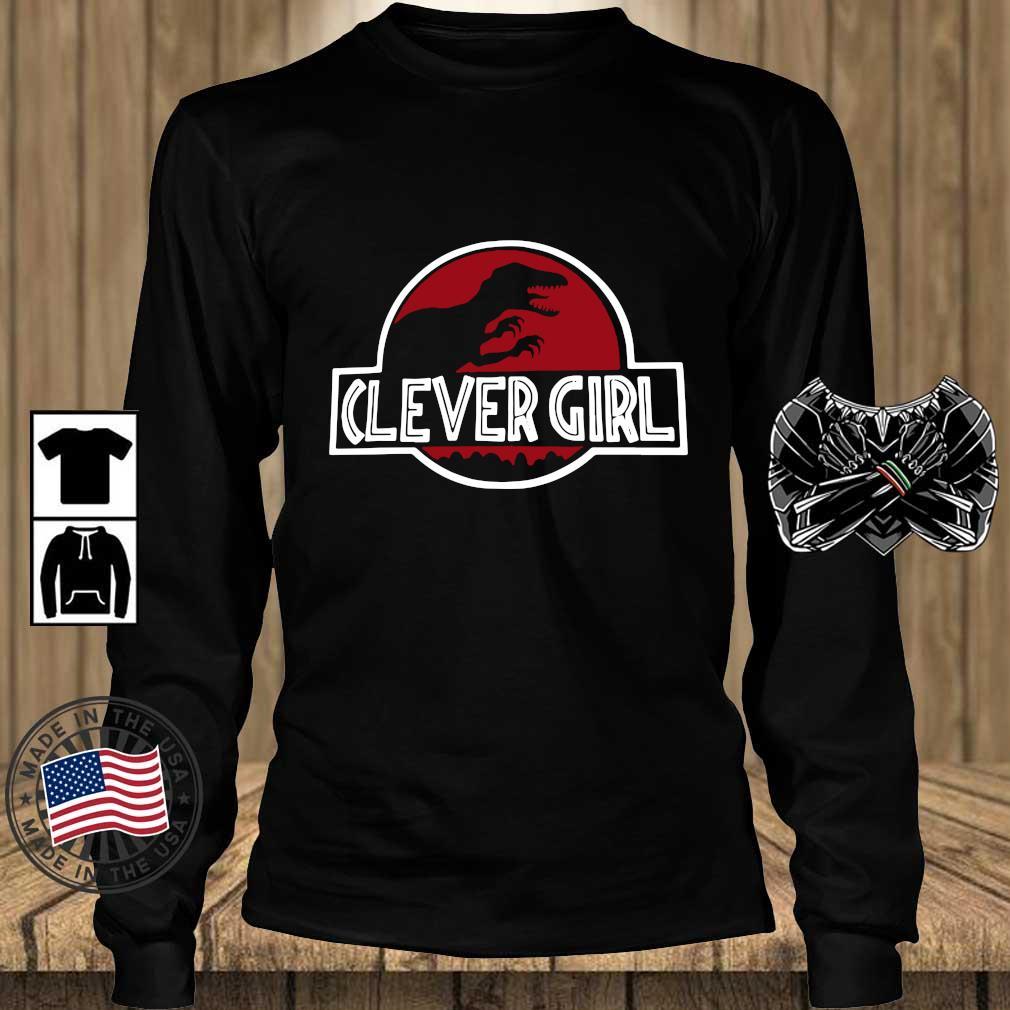 Clever Girl Velociraptor Dinosaur Parody Shirt Teechalla longsleeve den