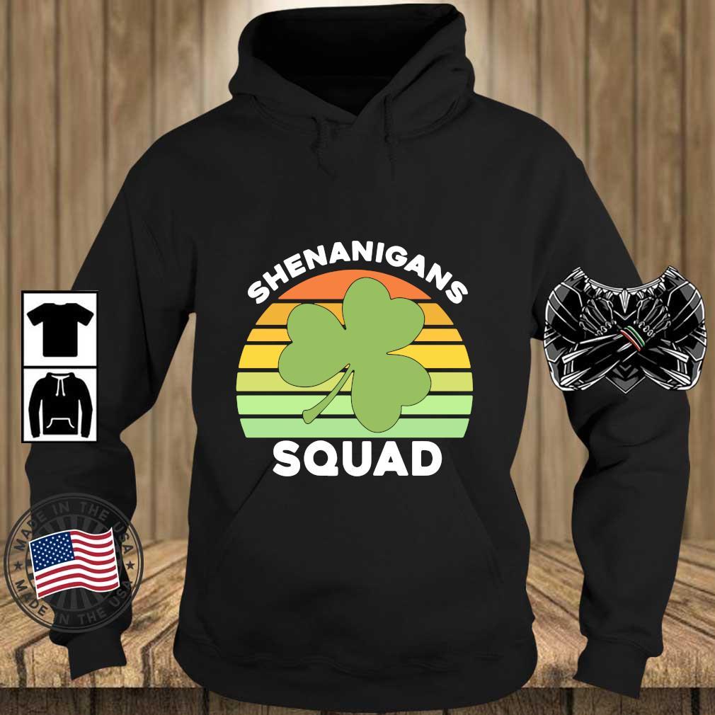 Offical Shamrock shenanigans squad St Patrick's Day vintage s Teechalla hoodie den
