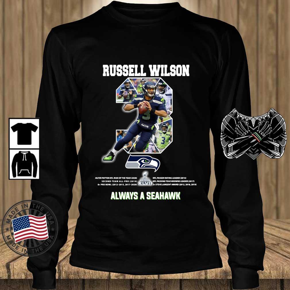 Russell Wilson 3 always a Seattle Seahawks shirts Teechalla longsleeve den