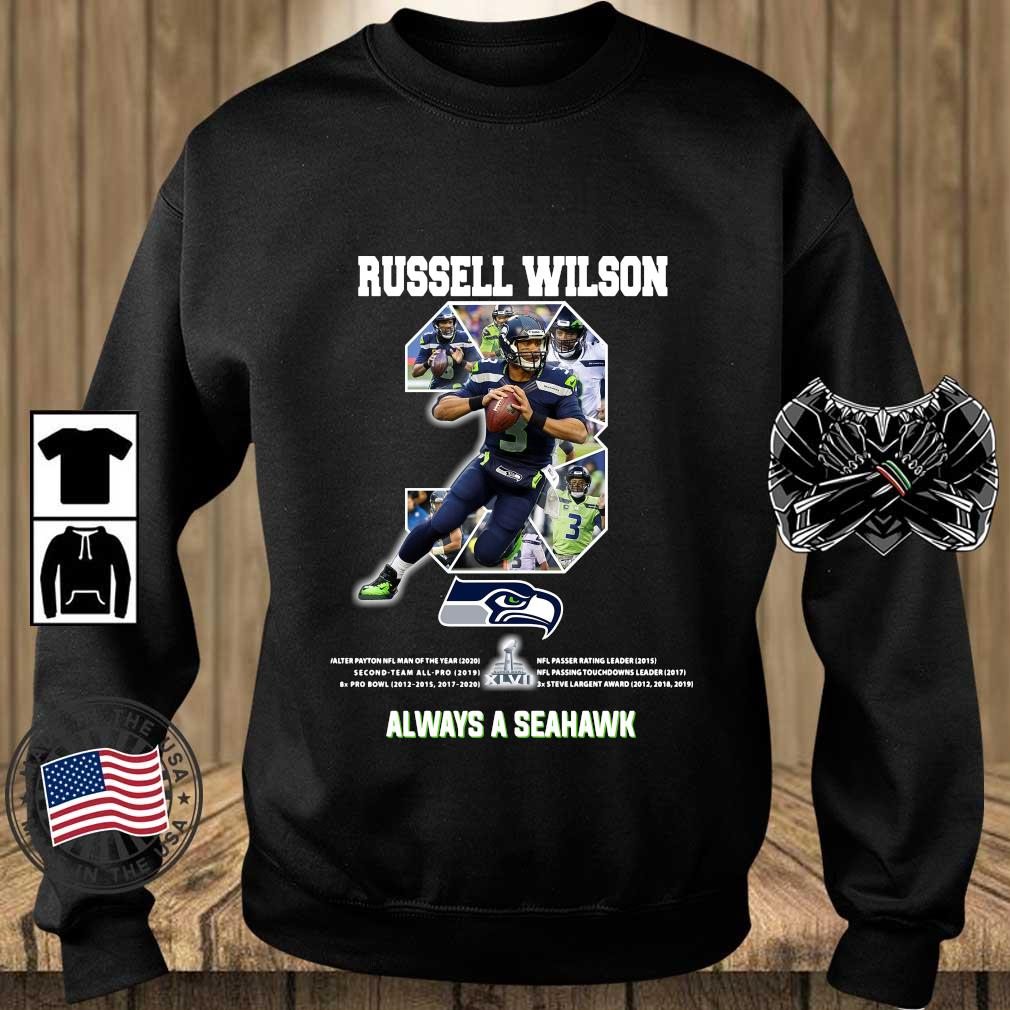 Russell Wilson 3 always a Seattle Seahawks shirts Teechalla sweater den