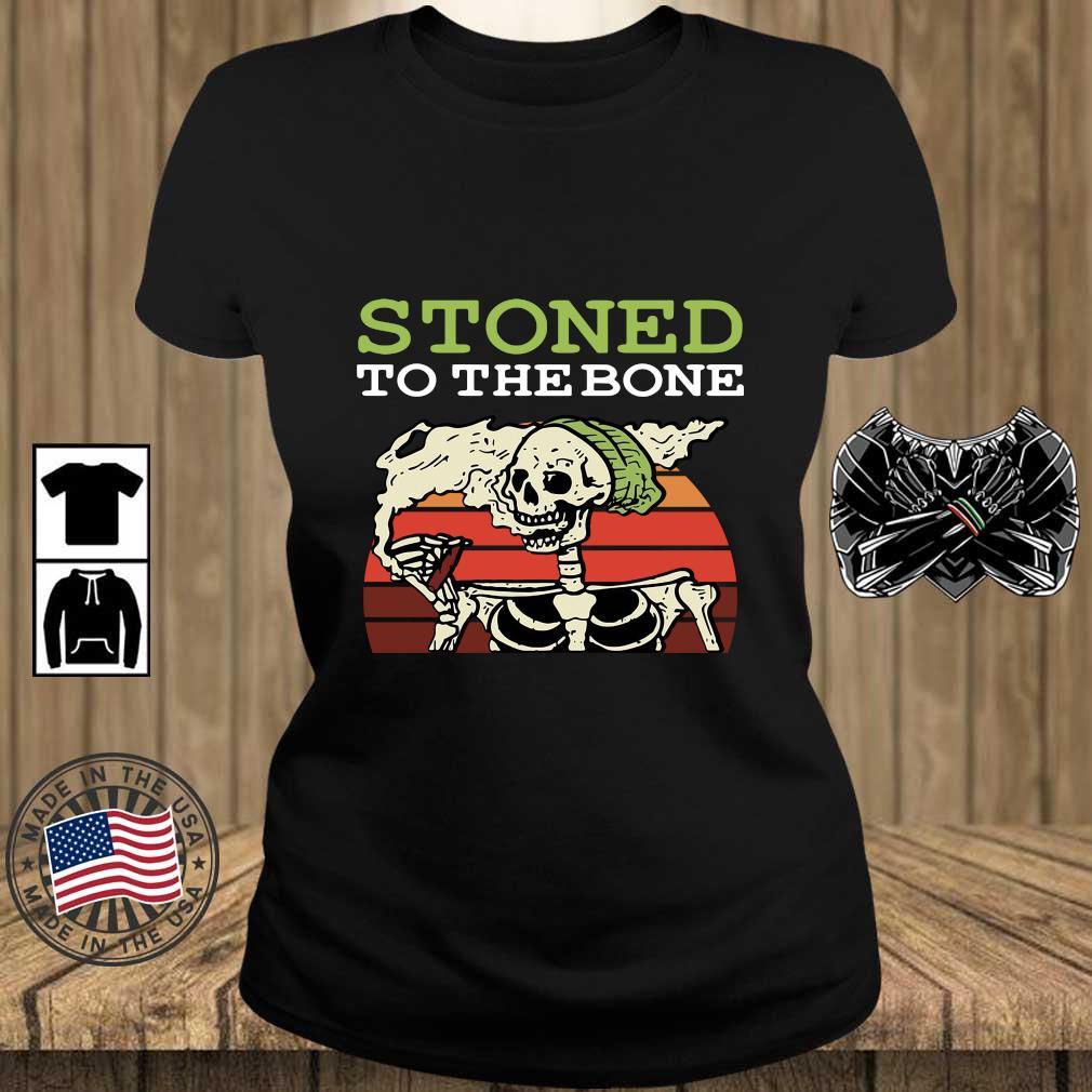 Skeleton stoned to the bone vintage sunset s Teechalla ladies den