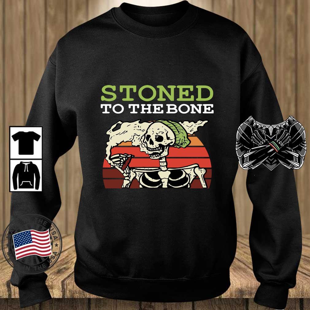 Skeleton stoned to the bone vintage sunset s Teechalla sweater den