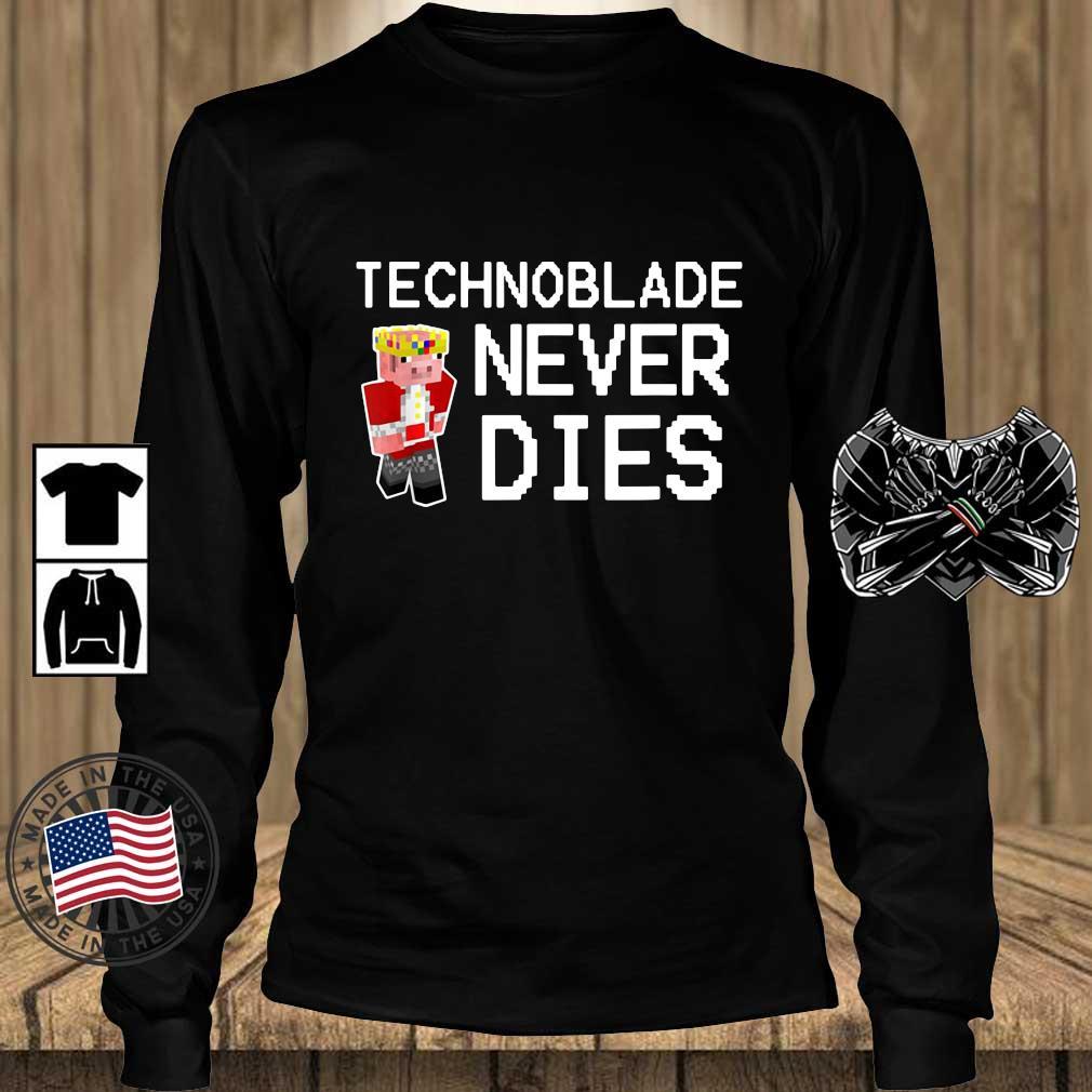 Technoblade never dies s Teechalla longsleeve den