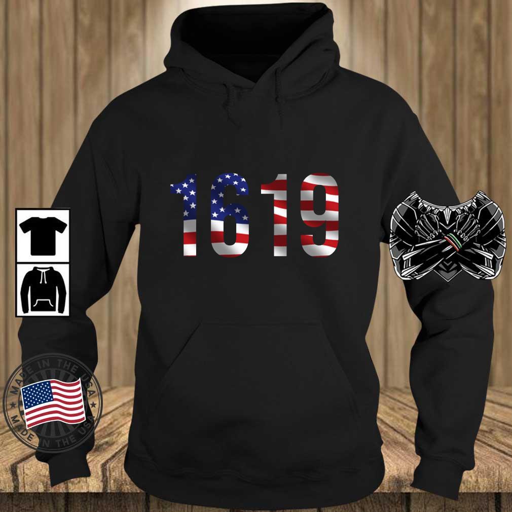 1619 American flag s Teechalla hoodie den