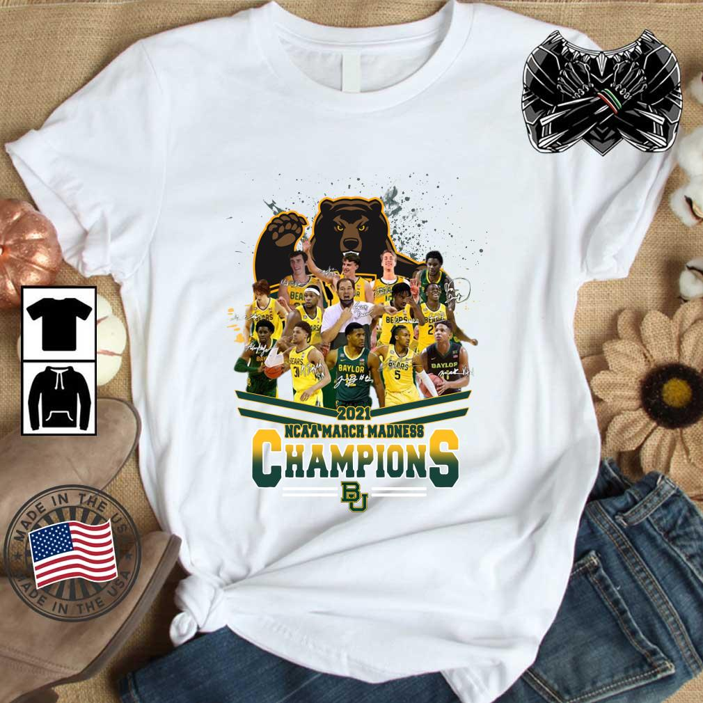 2021 NCAA March Madness Champions Baylor University Signatures shirt