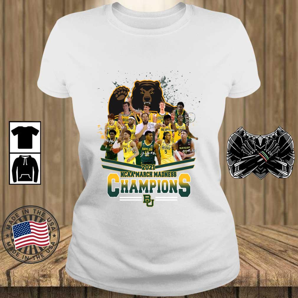 2021 NCAA March Madness Champions Baylor University Signatures s Teechalla ladies trang