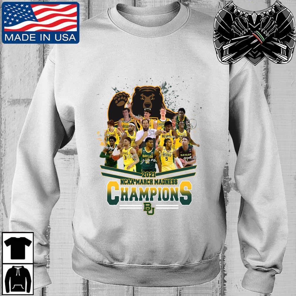 2021 NCAA March Madness Champions Baylor University Signatures s Teechalla sweater trang