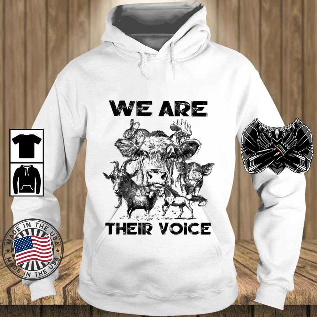 Animal we are their voice s Teechalla hoodie trang