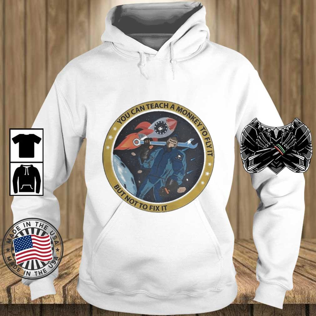 Bigfoot You Can Teach A Monkey To Fly It But Not To Fix It Shirt Teechalla hoodie trang