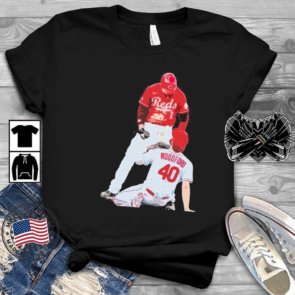 Cincinnati Reds Nick Castellanos Vs Cardinals Jake Woodford Shirt