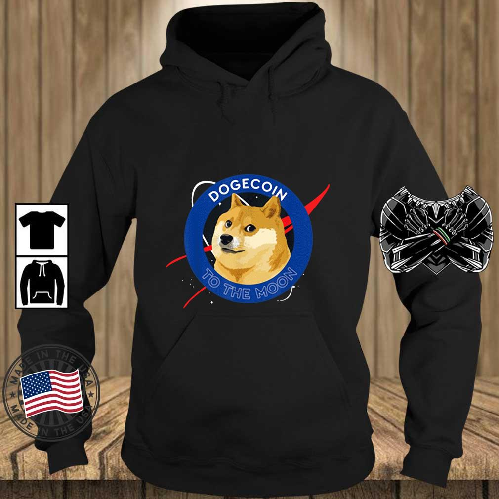 Dogecoin to the Moon Cool Doge Coin Crypto Currency Shirt Teechalla hoodie den