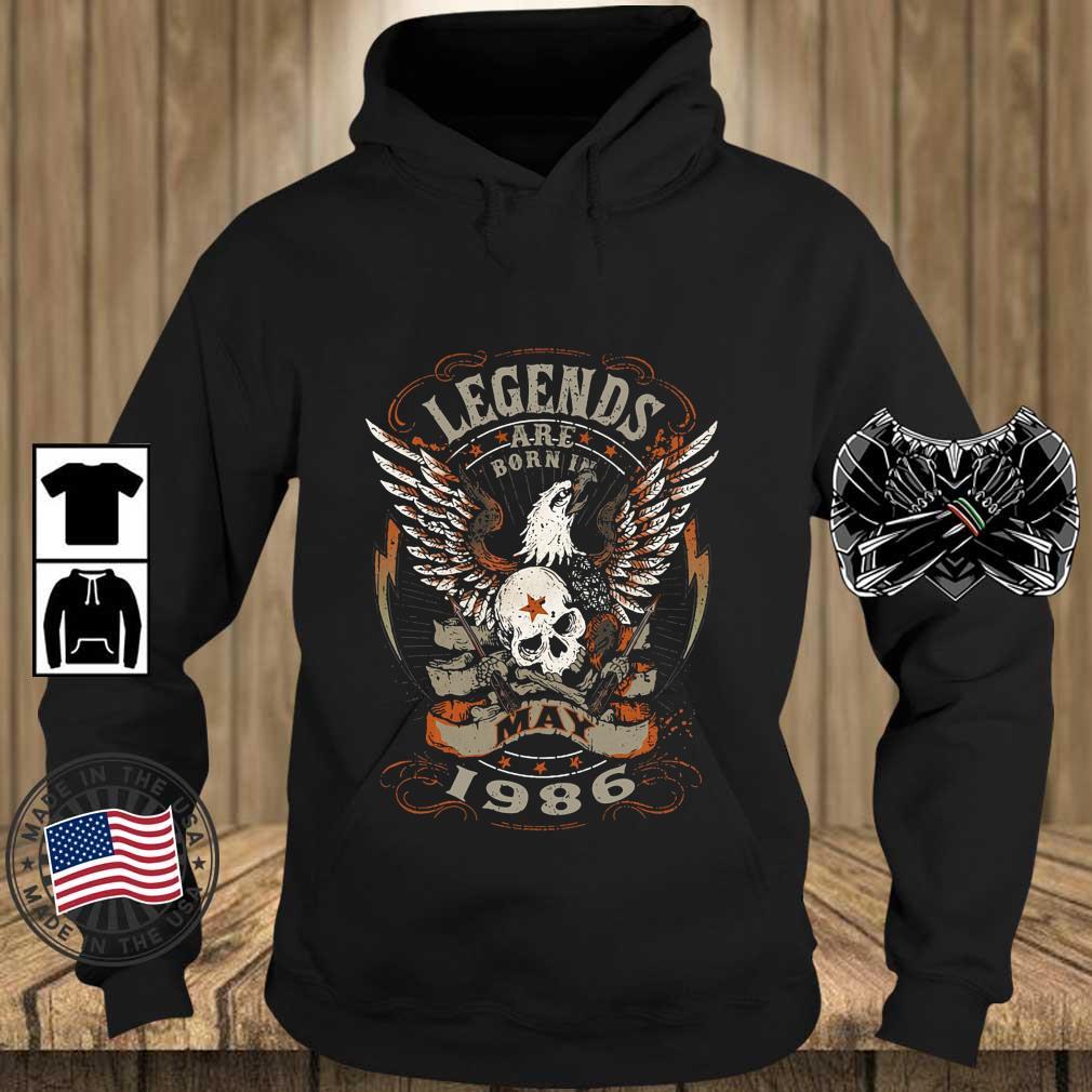 Eagles Skull Legends Are Born In May 1986 Shirt Teechalla hoodie den