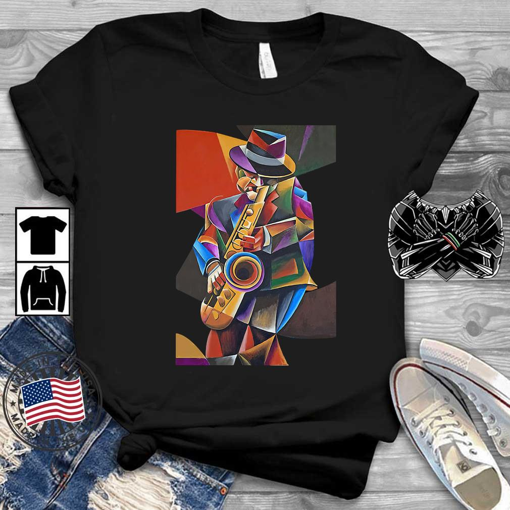 Jazz Sax Painting By Bob Gregory Shirt
