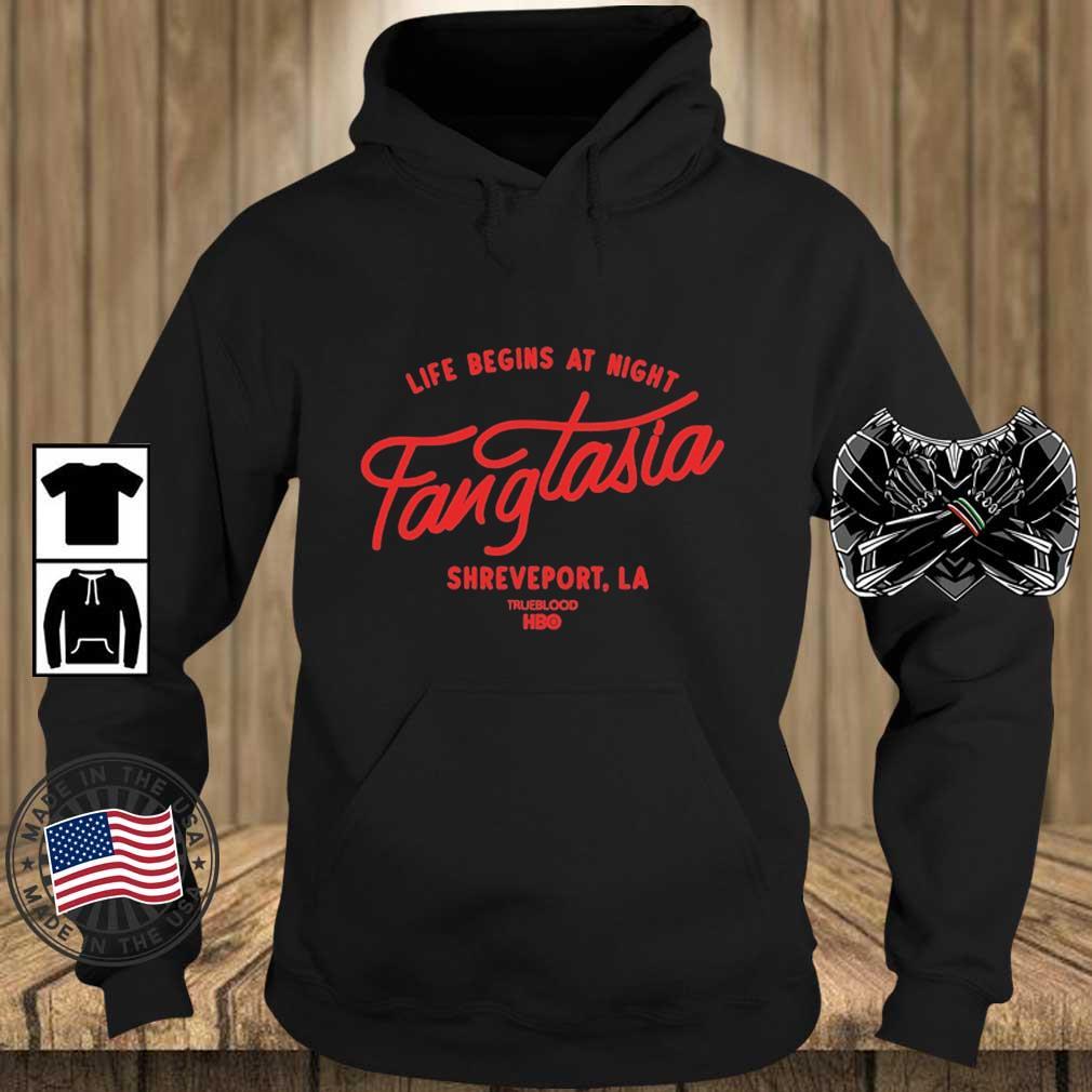 Life begins at night fangtasia shreveport La true blood HBO s Teechalla hoodie den