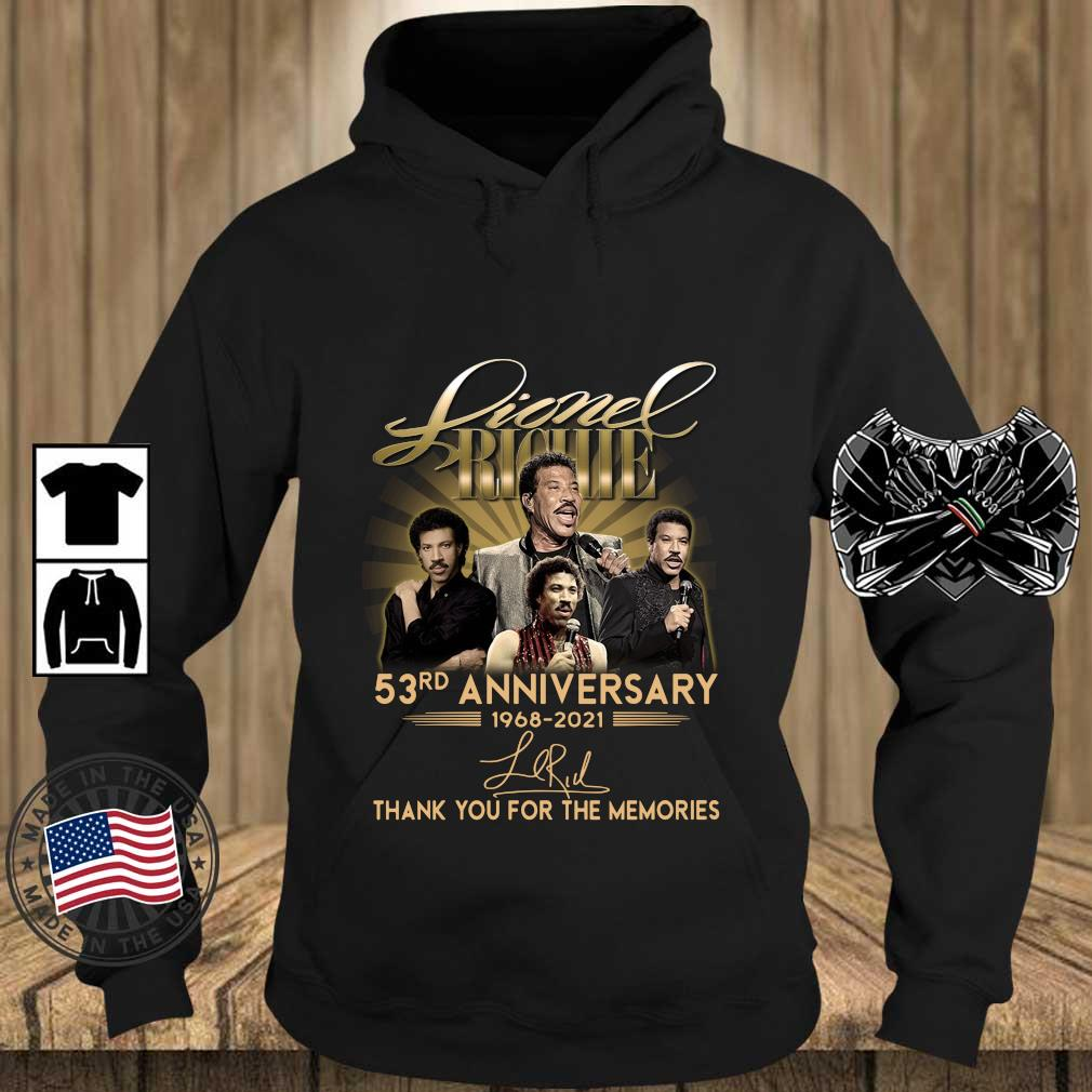 Lionel Richie 53rd Anniversary 1968 2021 Signatures Thank You Shirt Teechalla hoodie den