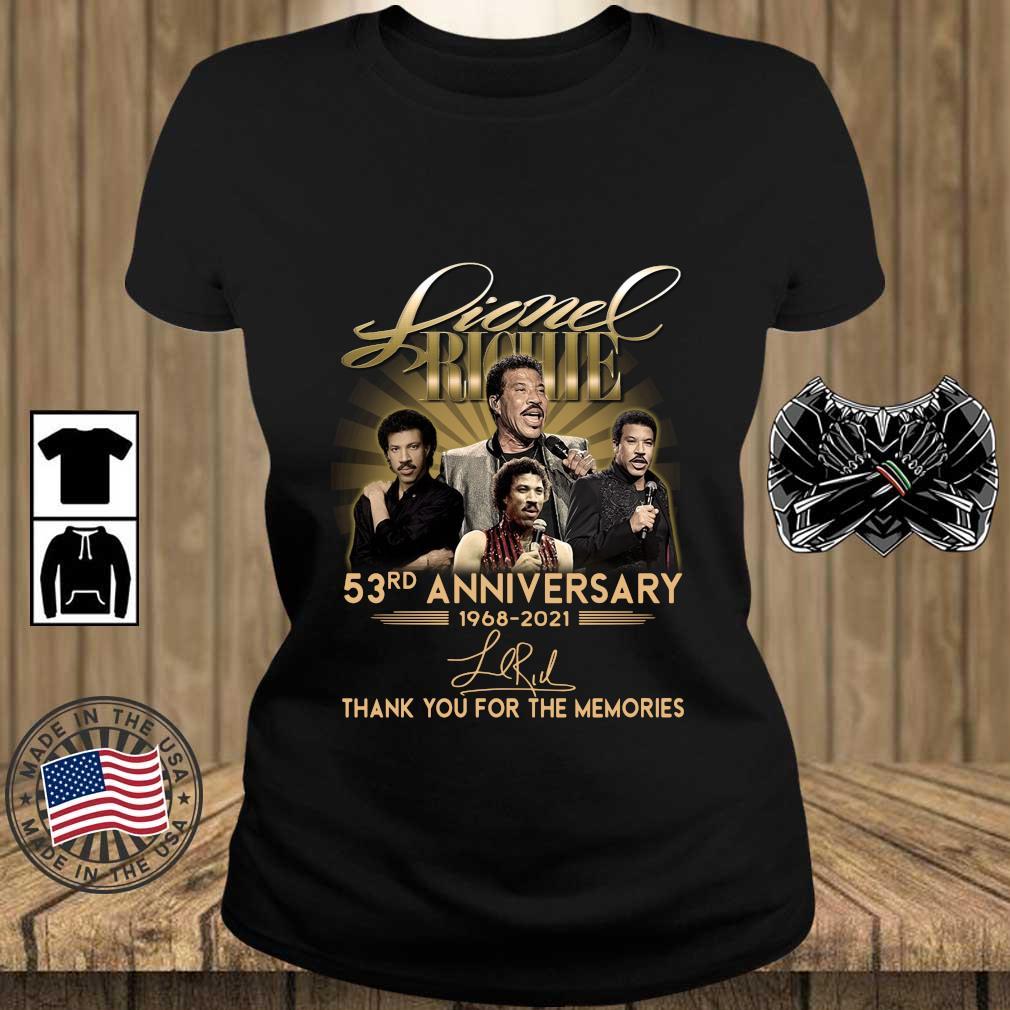 Lionel Richie 53rd Anniversary 1968 2021 Signatures Thank You Shirt Teechalla ladies den