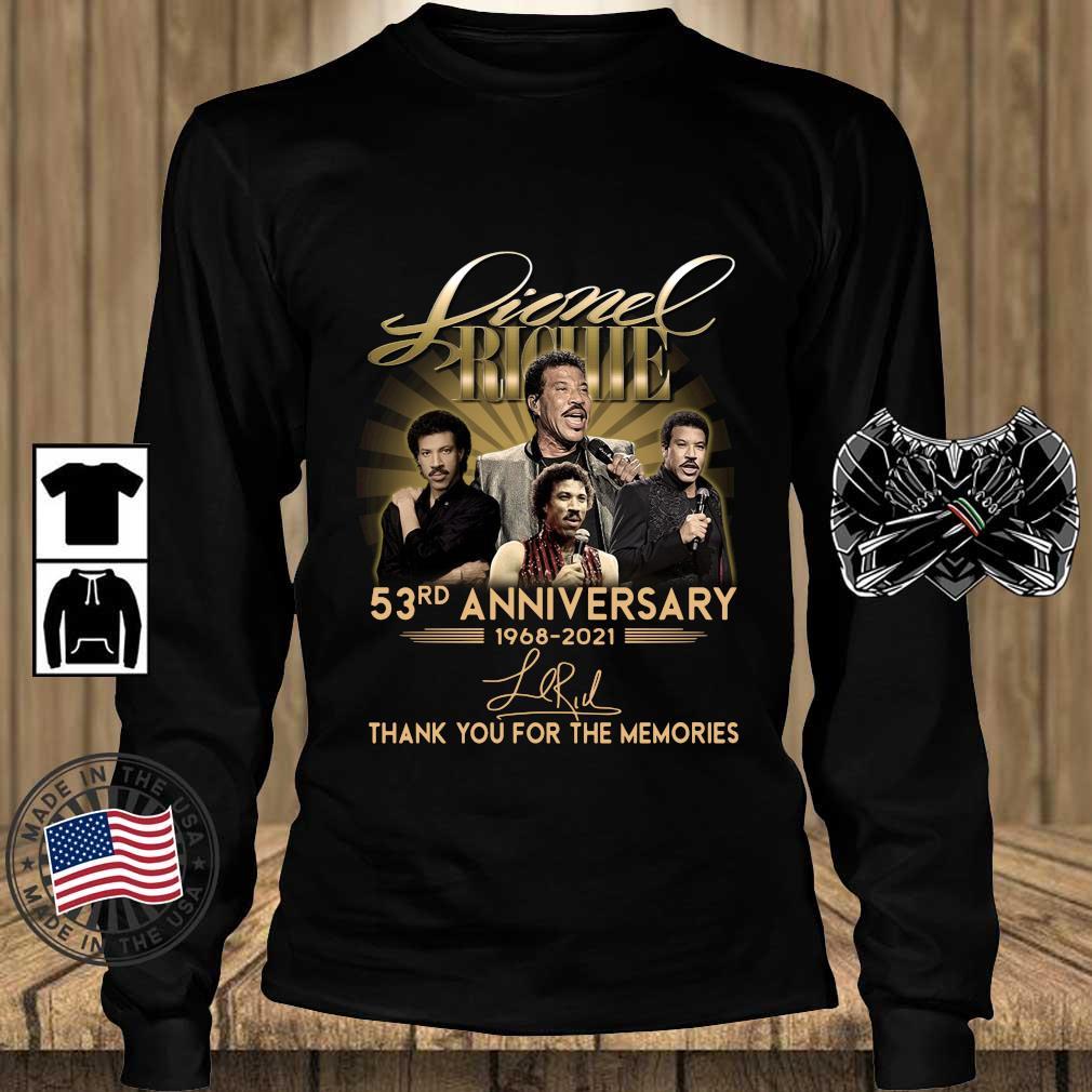 Lionel Richie 53rd Anniversary 1968 2021 Signatures Thank You Shirt Teechalla longsleeve den