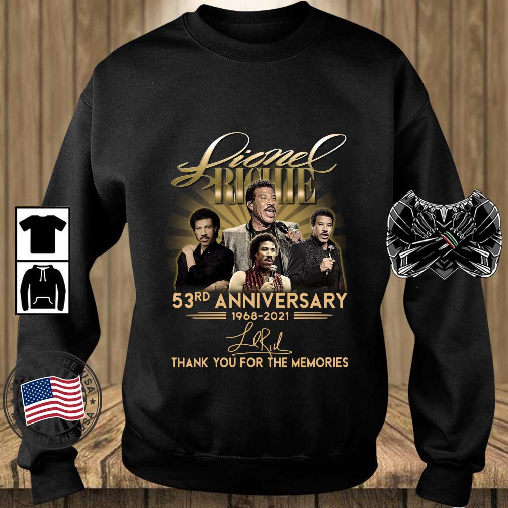 Lionel Richie 53rd Anniversary 1968 2021 Signatures Thank You Shirt Teechalla sweater den
