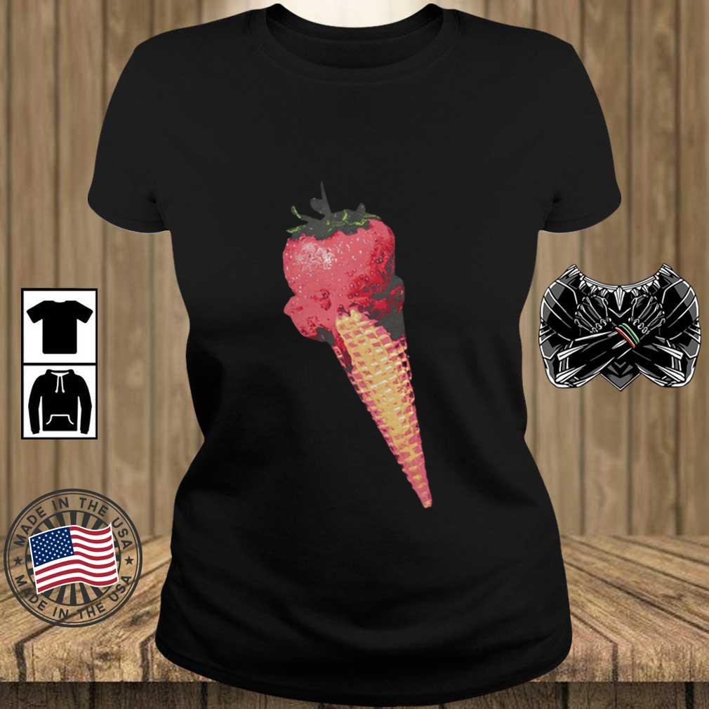 Olivia Rodrigo Merch Ice Cream Shirt Teechalla ladies den