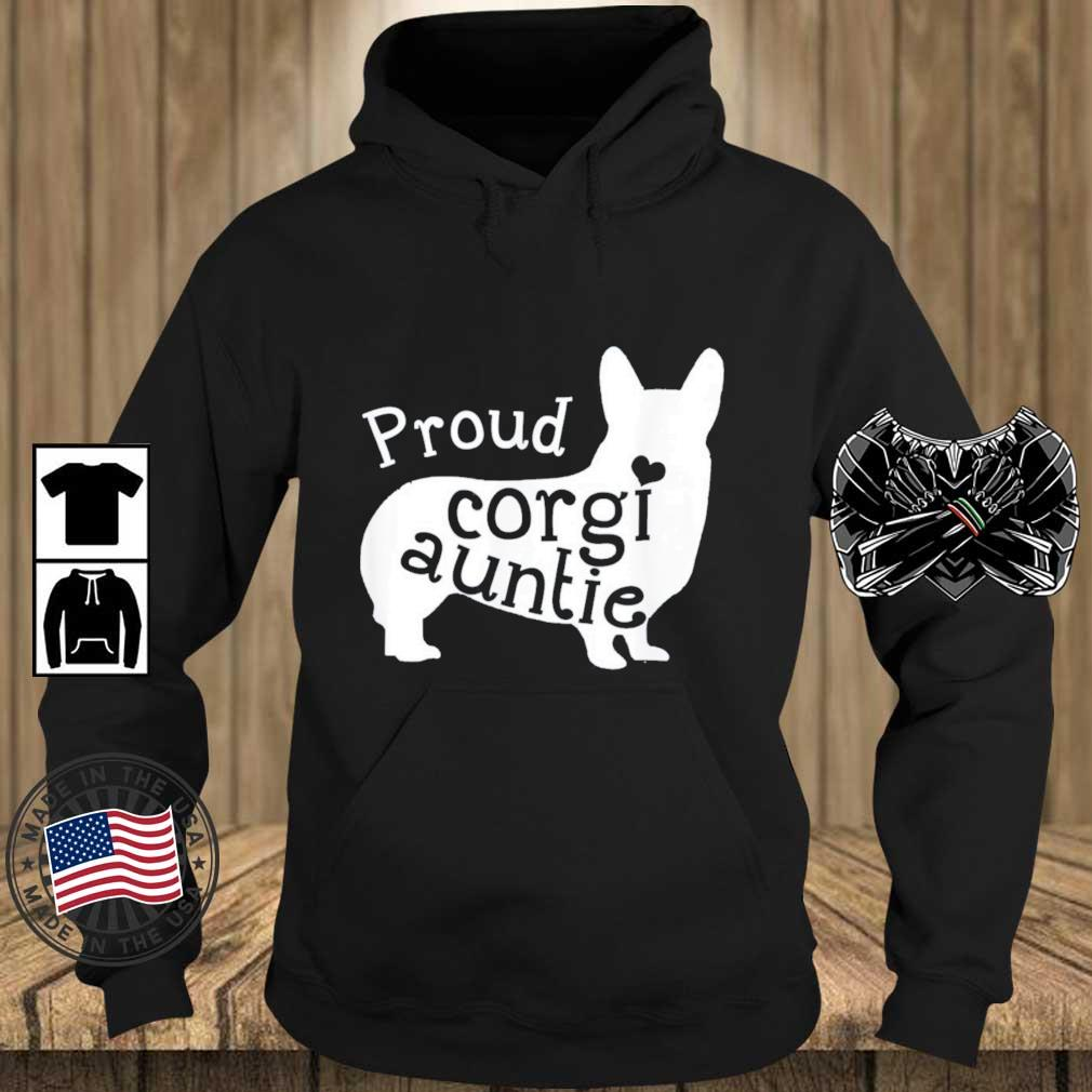 Proud Corgi Auntie Shirt Teechalla hoodie den