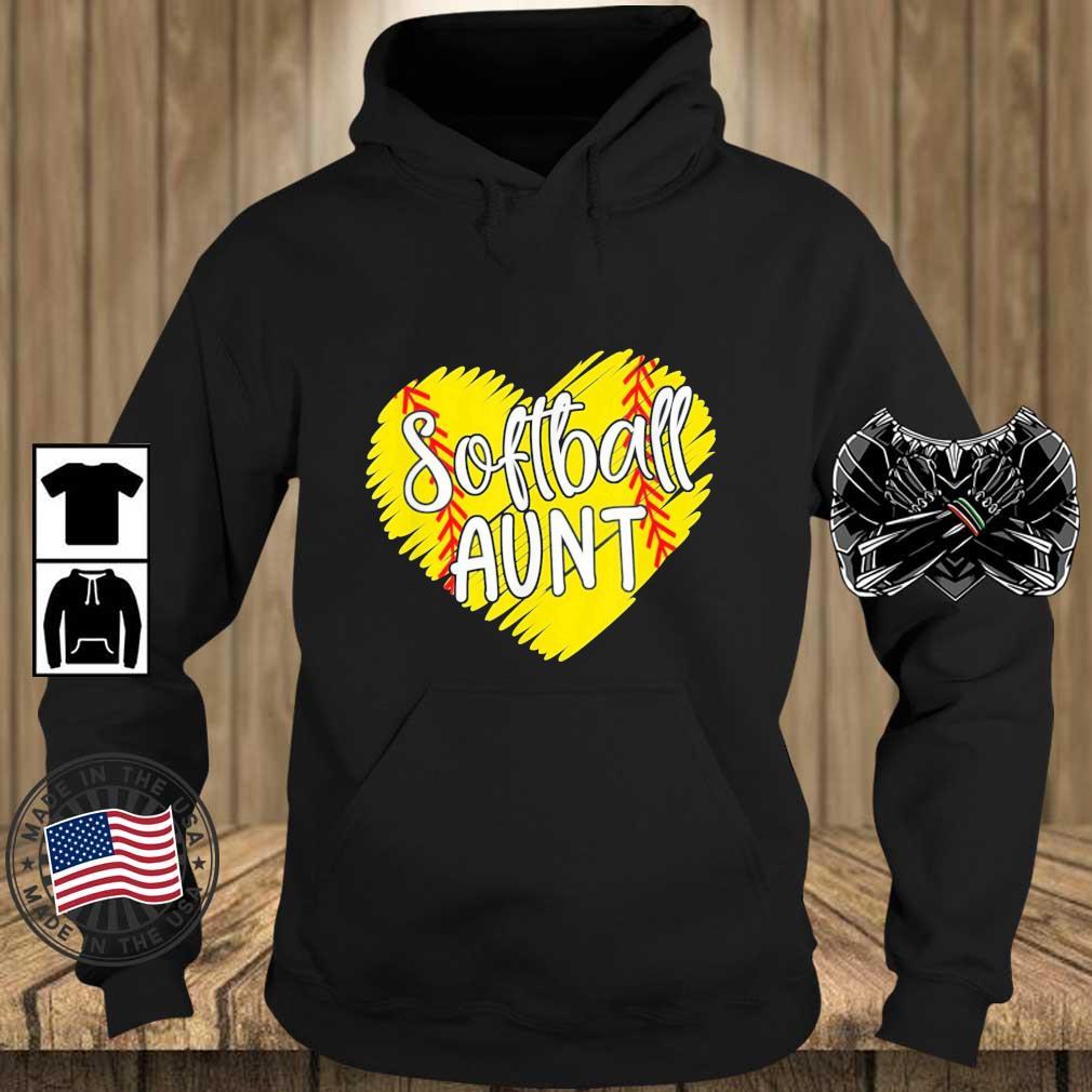 Softball Aunt Designs Baller Aunt Mother's Day Us 2021 Shirt Teechalla hoodie den