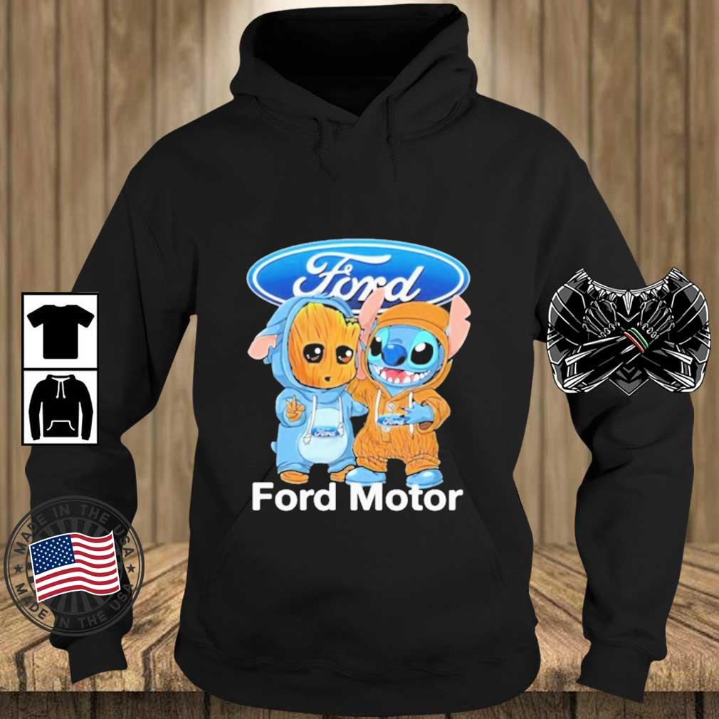 Baby Groot And Baby Stitch With Ford Motor Logo Shirt Teechalla hoodie den