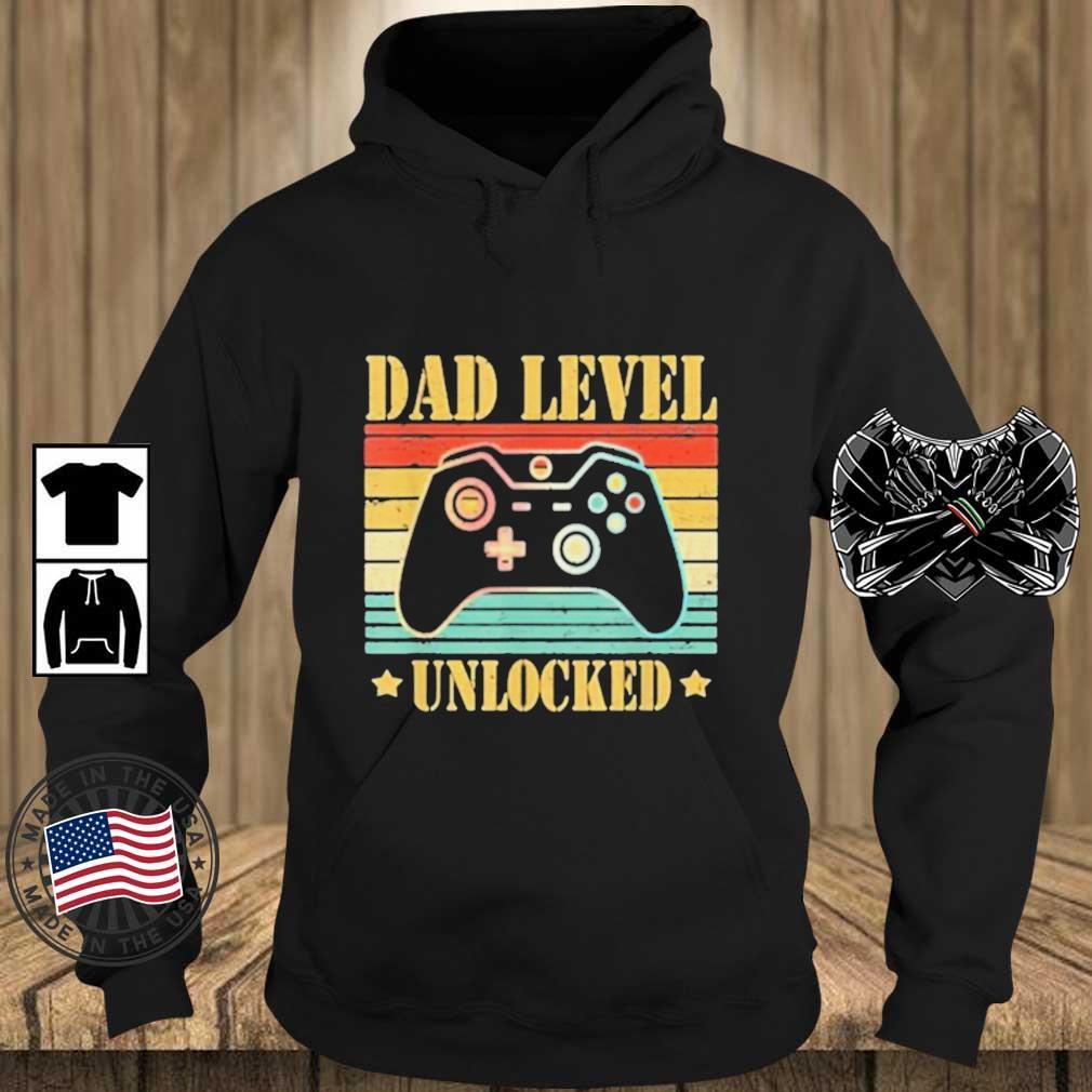 Dad Level Unlocked Vintage Shirt Teechalla hoodie den