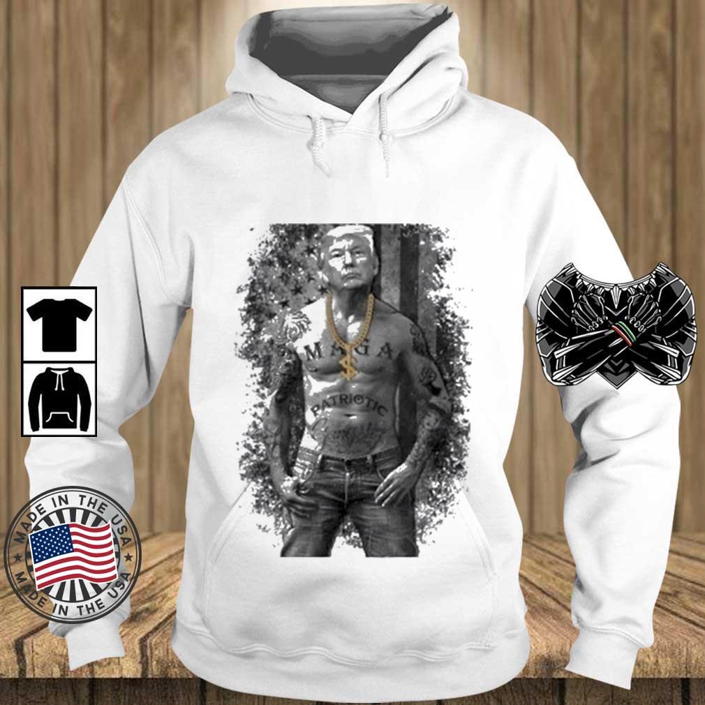 Donald Trump Tattoo American Flag Shirt Teechalla hoodie trang