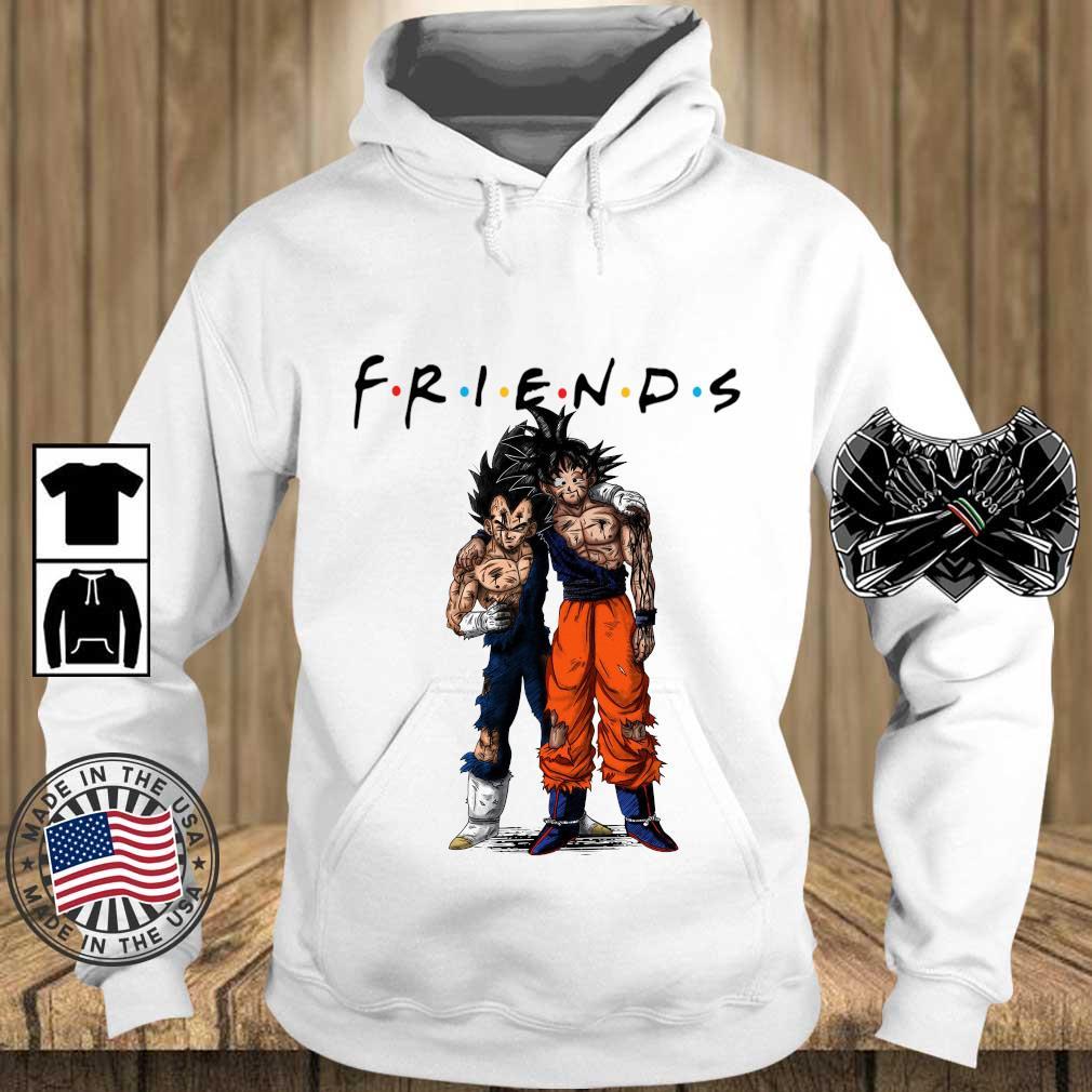 Dragon Ball Z Son Goku and Vegeta friends 2021 s Teechalla hoodie trang