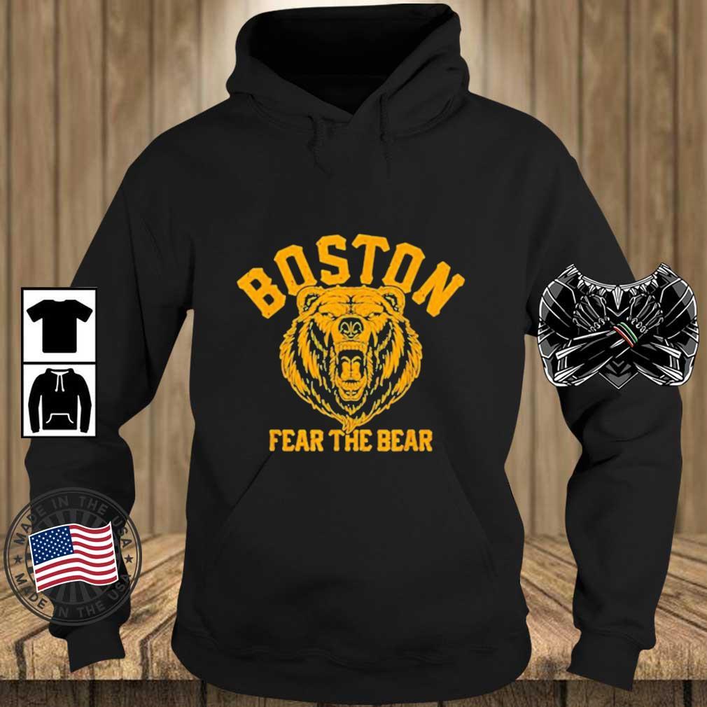 Fear The Bear Hockey Beware of Boston Gameday Bruin 2021 Shirt Teechalla hoodie den