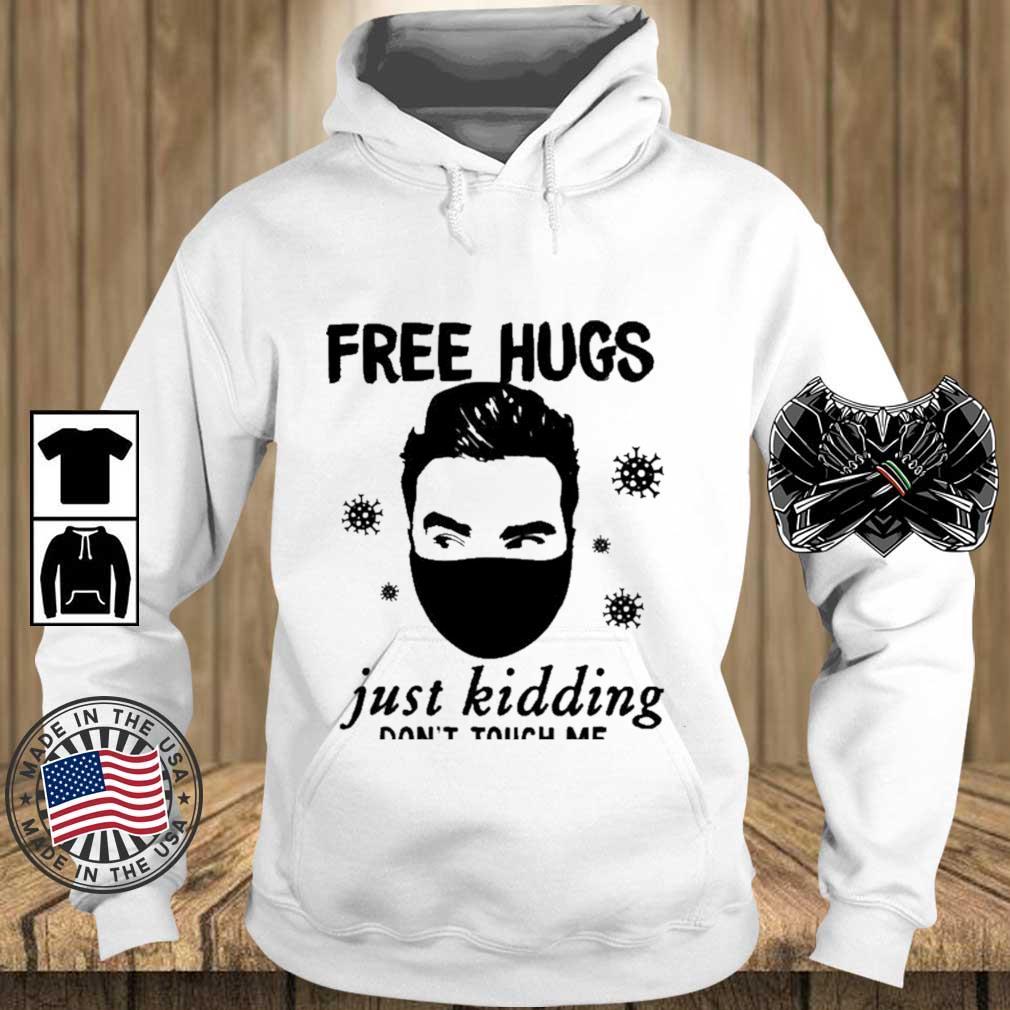 Free hugs just kidding don't touch Me s Teechalla hoodie trang