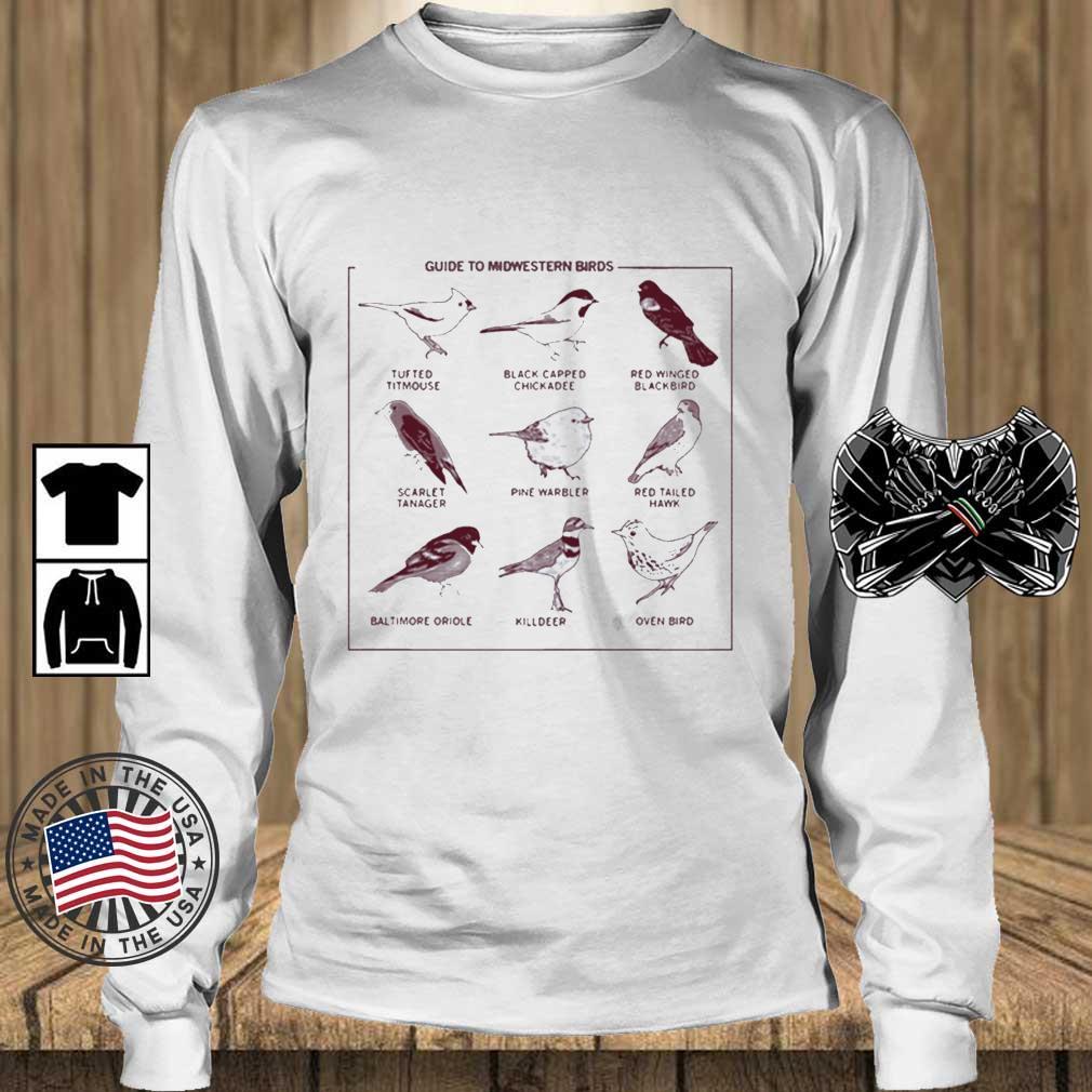Guide To Midwestern Birds Shirt Teechalla longsleeve trang