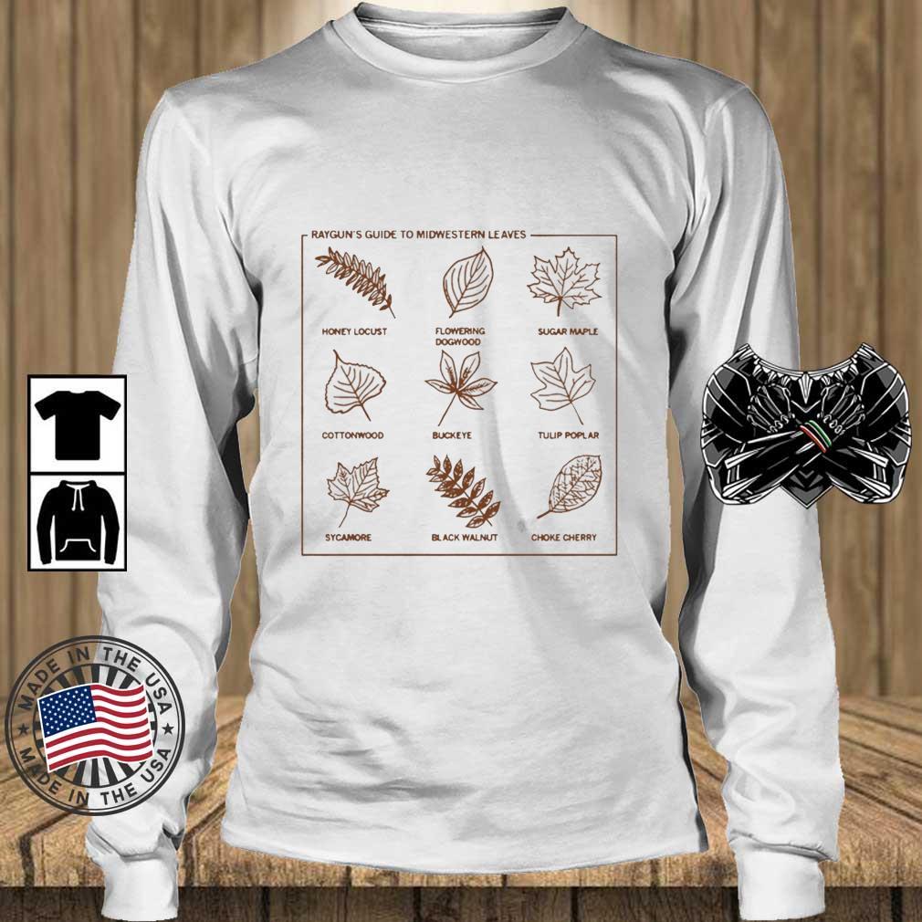 Guide To Midwestern Leaves Shirt Teechalla longsleeve trang