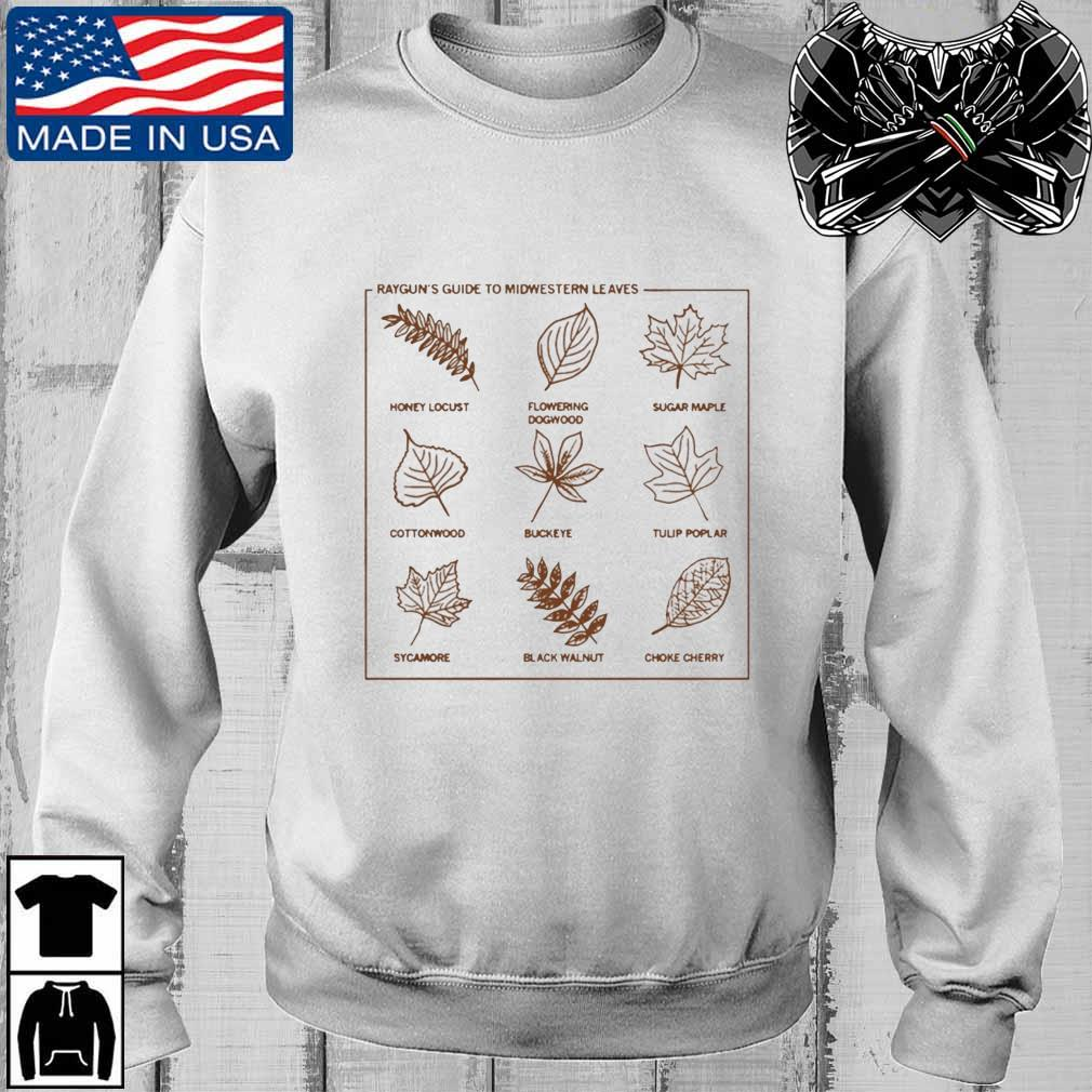 Guide To Midwestern Leaves Shirt Teechalla sweater trang