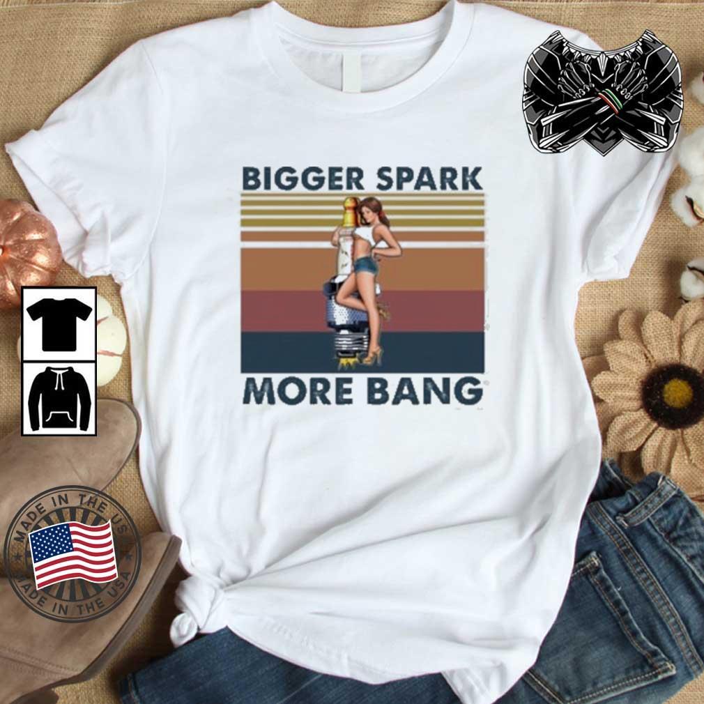 T-Shirt Bigger Spark More Bang Rockabilly Vintage Biker US Car Oldtimer Pin-up