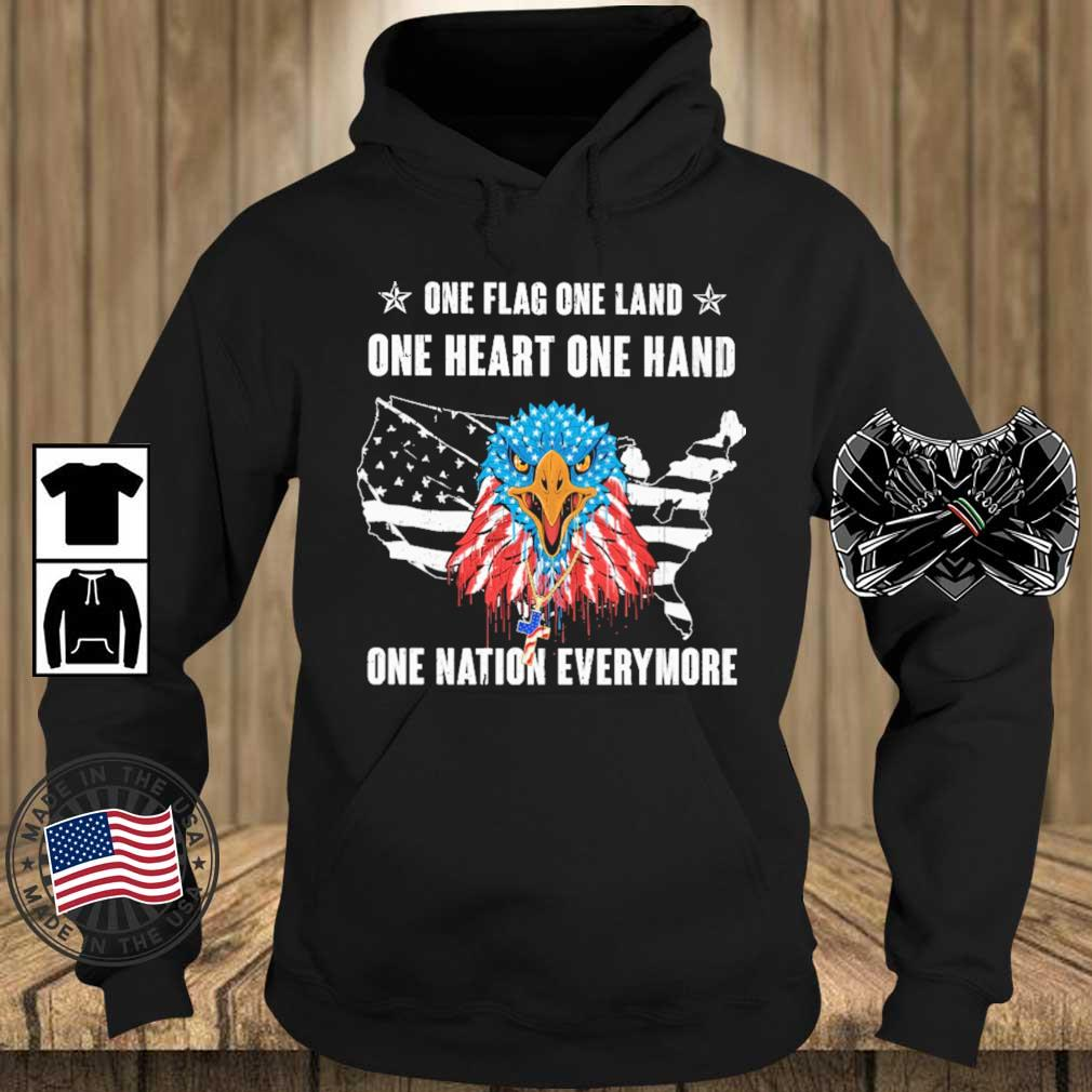 Eagles one flag one land one heart one hand one nation evermore 4th Of July s Teechalla hoodie den