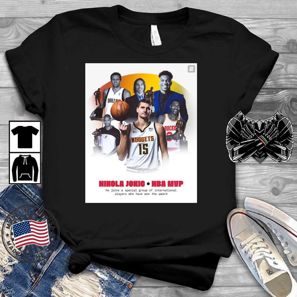 Nikola Jokic NBA Mvp he join a special group shirt
