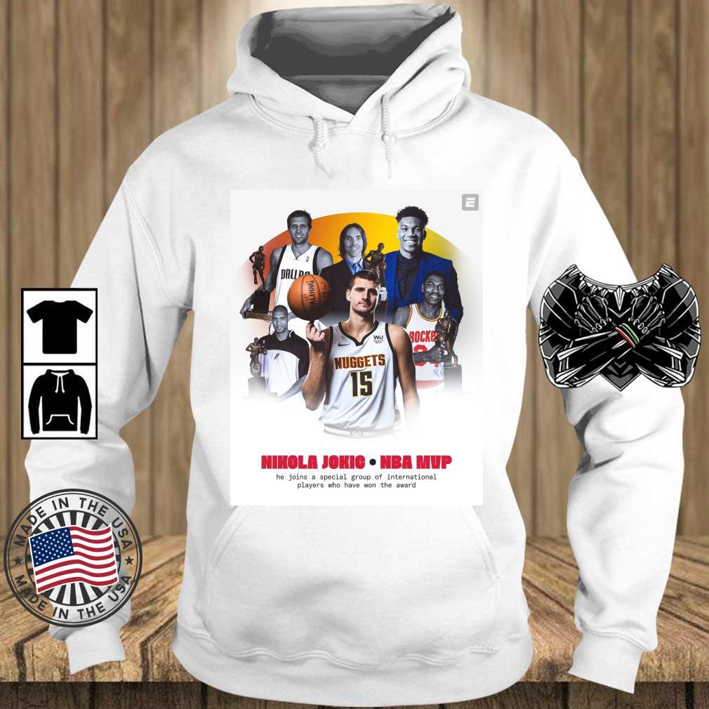 Nikola Jokić NBA Mvp he join a special group s Teechalla hoodie trang