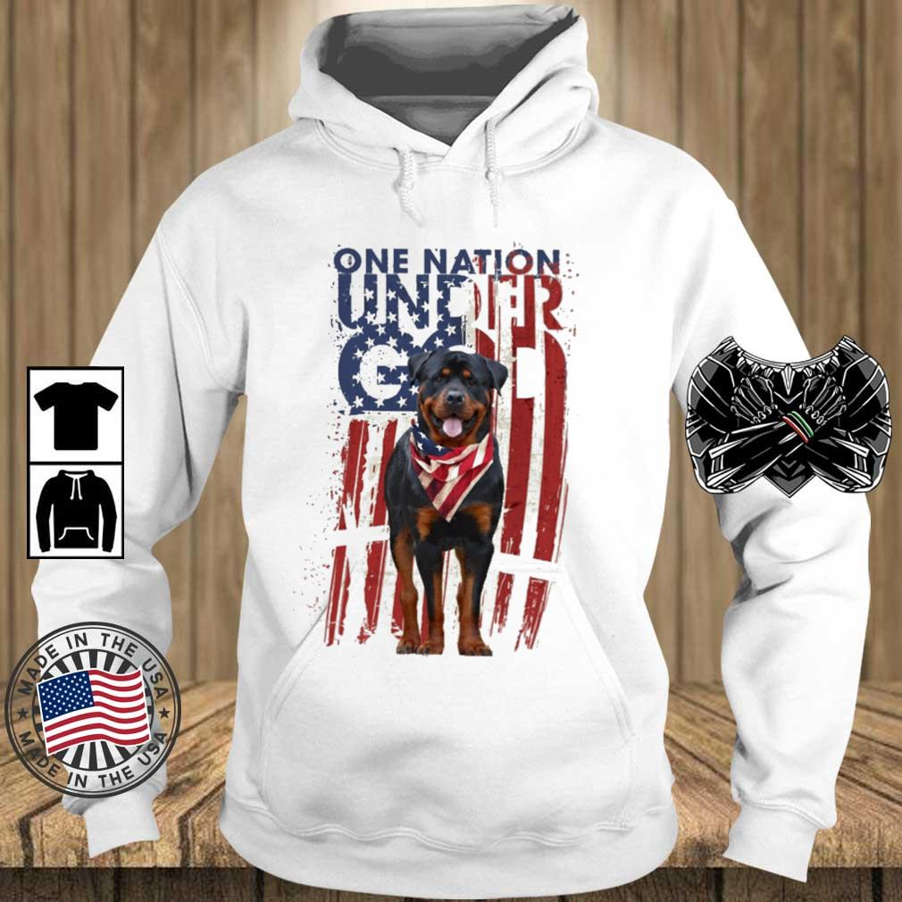 Rottweiler one nation under god American flag 4th Of July s Teechalla hoodie trang