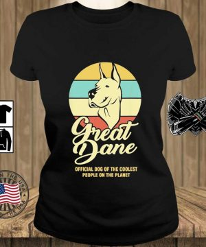 Great Dance Official Dog Of The Coolest People On The Planet Vintage Shirt Teechalla ladies den