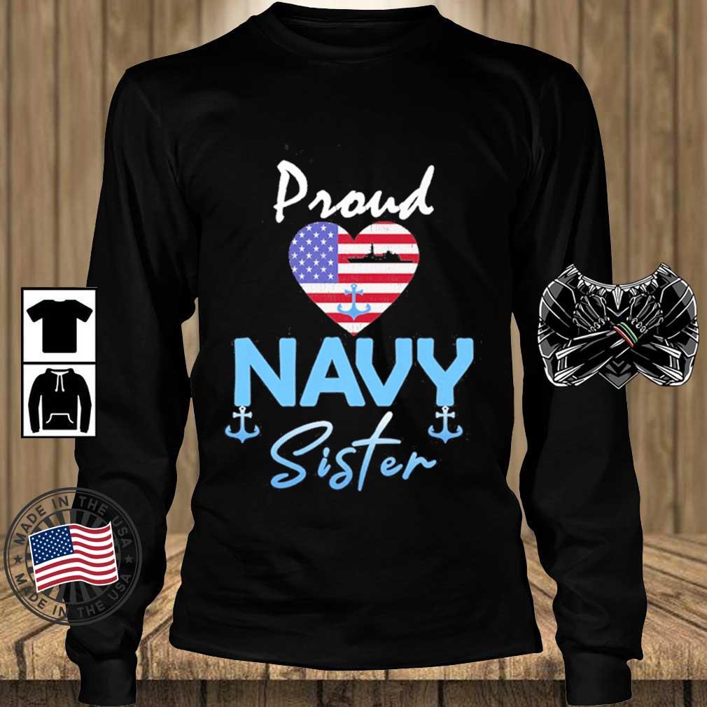 Proud Navy sister Heart American flag s Teechalla longsleeve den