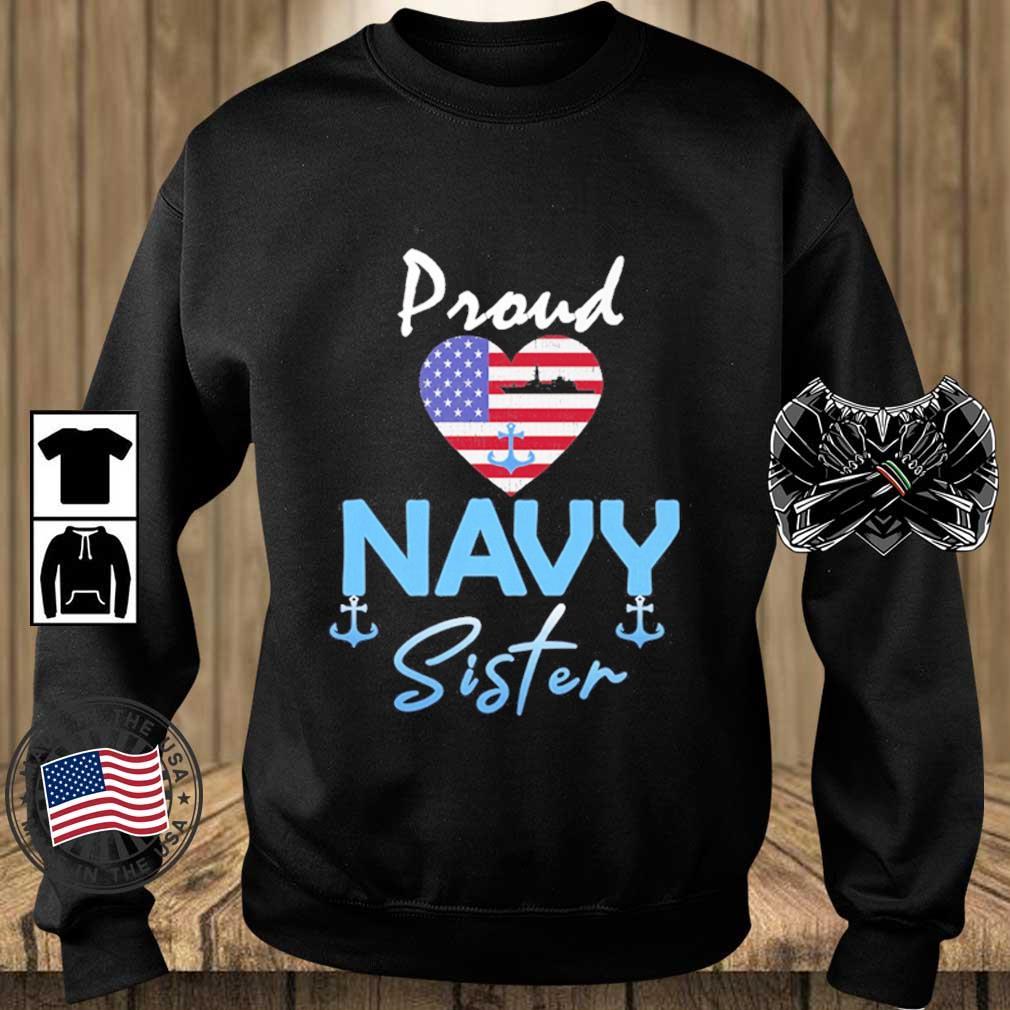 Proud Navy sister Heart American flag s Teechalla sweater den