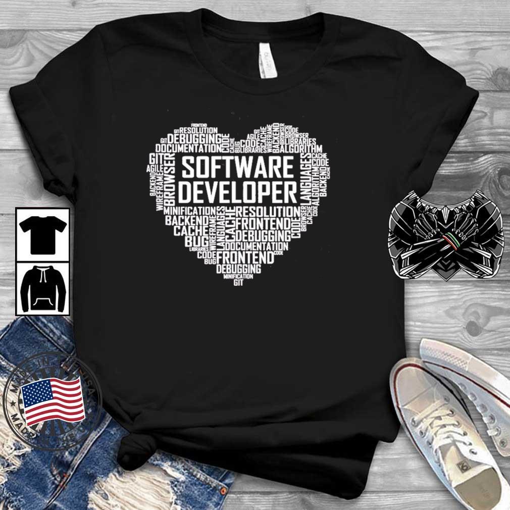 Proud Software Developer Heart Proud Graduation Heart Shirt