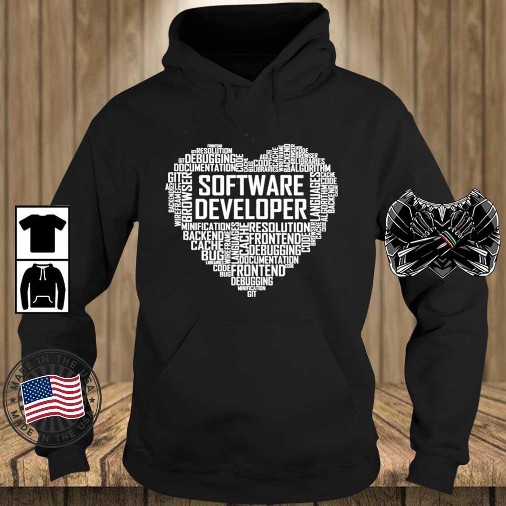 Proud Software Developer Heart Proud Graduation Heart Shirt Teechalla hoodie den