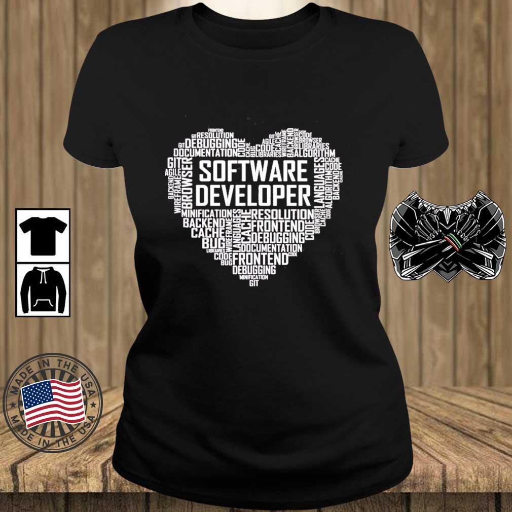 Proud Software Developer Heart Proud Graduation Heart Shirt Teechalla ladies den