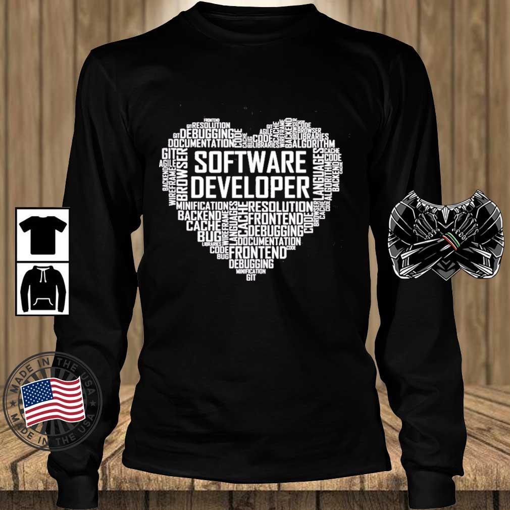 Proud Software Developer Heart Proud Graduation Heart Shirt Teechalla longsleeve den