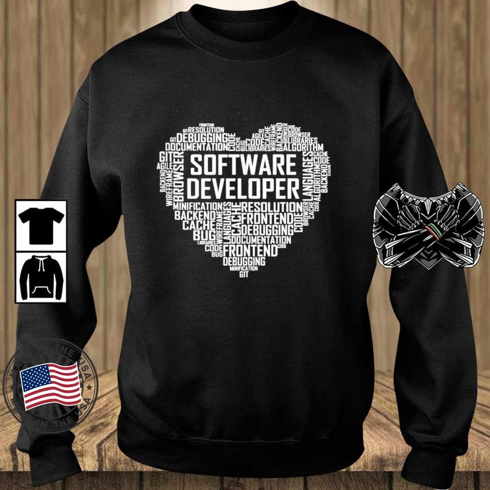 Proud Software Developer Heart Proud Graduation Heart Shirt Teechalla sweater den